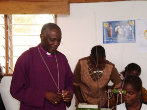 Bishop Kaulanda, Chairman of the MicroLoan Foundation in Malawi